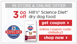 Get exclusive special offers for different Hill's Pet cat and dog food products by signing in and downloading each coupon.